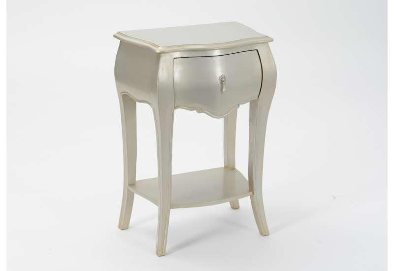 Chevet argenté avec un tiroir collection Amadeus