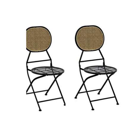 Chaise métal rotin