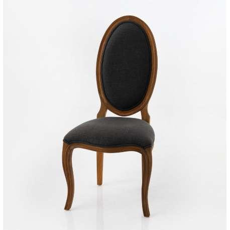 Chaise ovale Seine grise Amadeus