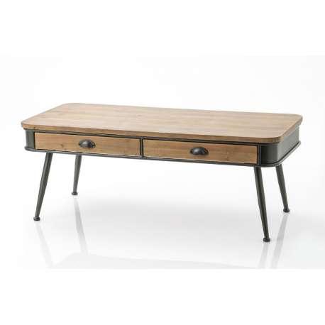 Table basse Eugène bois et métal Amadeus