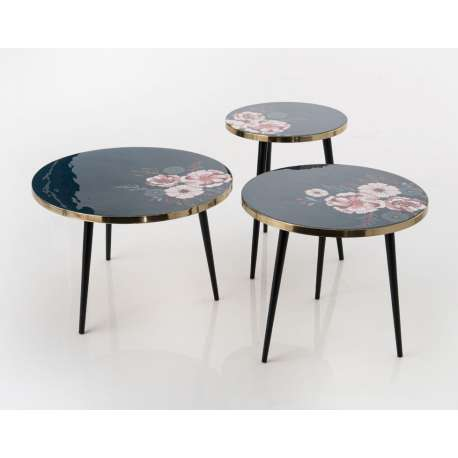 Set de 3 tables basses Floral Amadeus