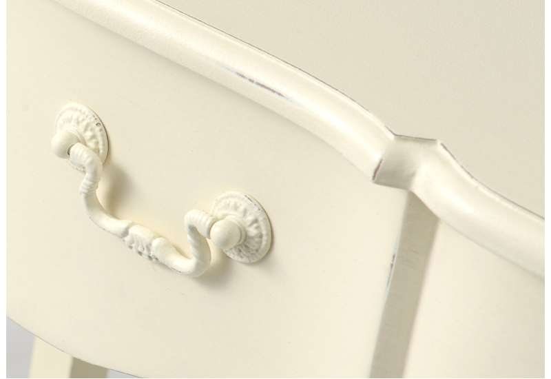 Table basse Blanche patinée Harpe