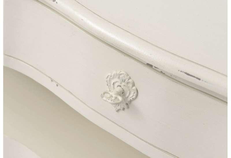 Petite console blanche patinée 60 cm