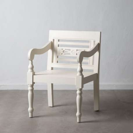 Fauteuil de jardin blanc Chloé