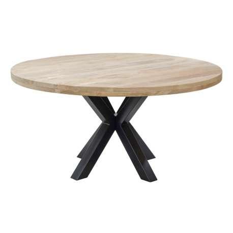 Table de salle à manger ronde en bois naturel