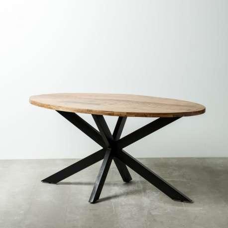 Table de salle à manger design en bois naturel