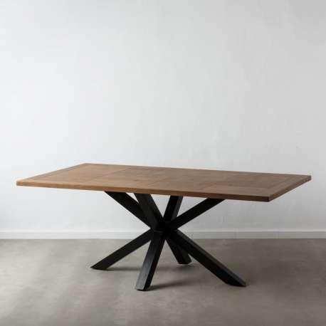 Table de salle à manger rectangulaire en bois de manguier