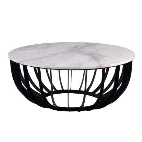 Table basse design en marbre et fer