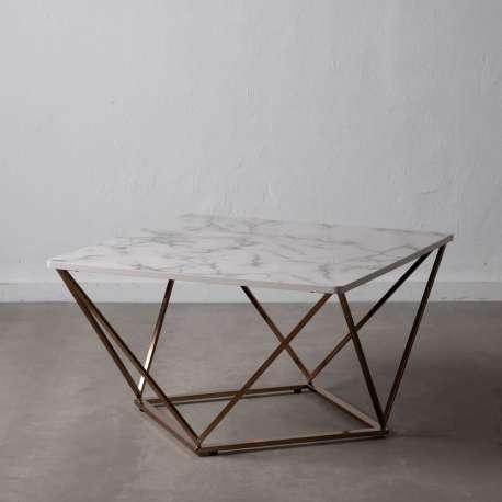 Table basse marron et dorée