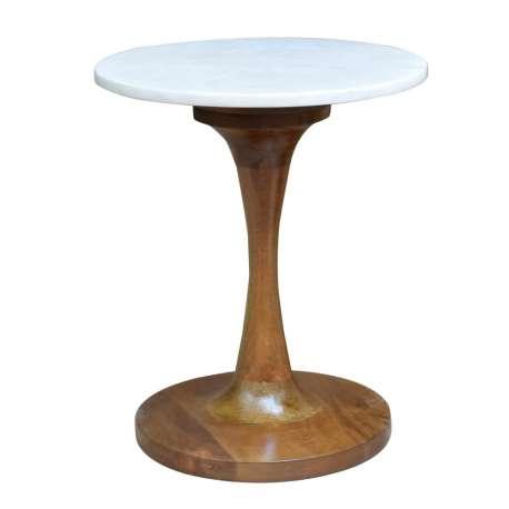 Table basse marbrée en bois de manguier