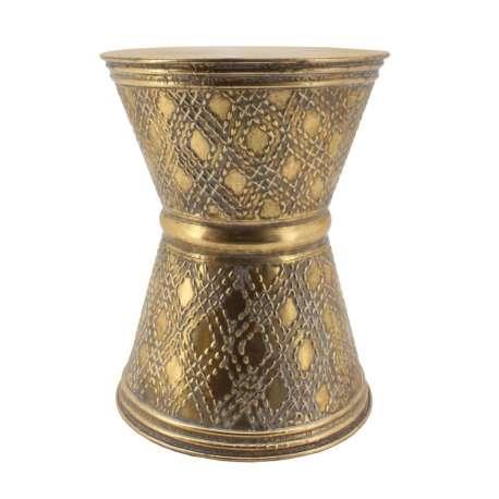 Table basse à motifs en or vieilli