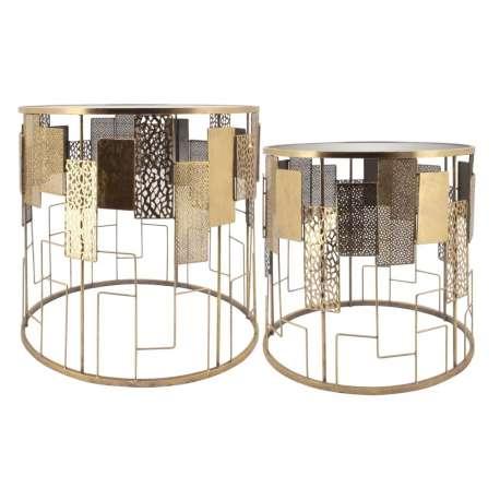 Set de 2 tables basses rondes contemporaines