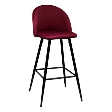 Tabouret de bar vintage bordeaux