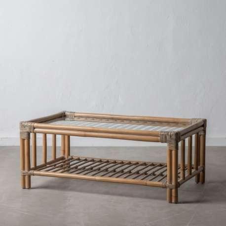 Table basse en rotin Mahalia