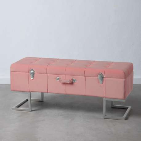 Banquette coffre rose Loona