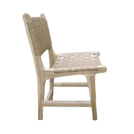 Chaise design en bois massif Denzzo
