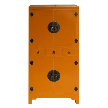 Armoire ocre 4 portes chine