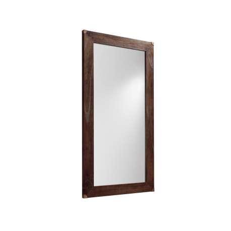 Grand miroir en bois brut