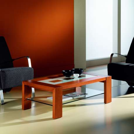 Table basse design verre opaque
