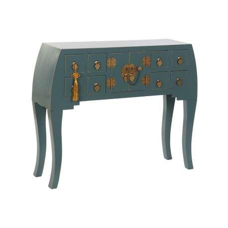 Console orientale 8 tiroirs Jade