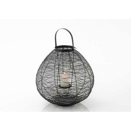 Lanterne noire métal