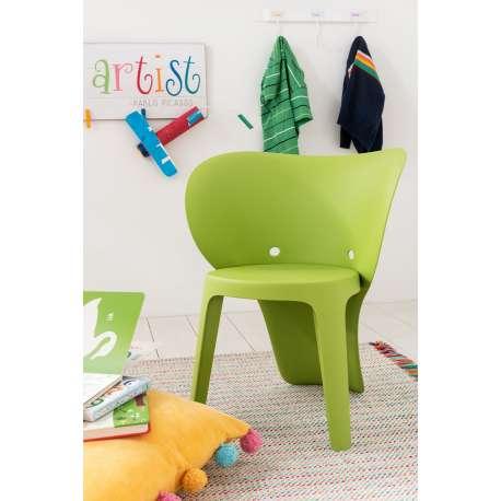 Chaise enfant Eléphant vert