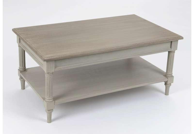 Table basse cérusée lin Amadeus