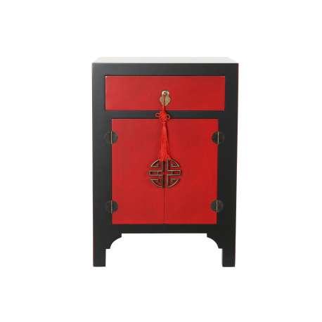 Chevet chinois Macao rouge et noir