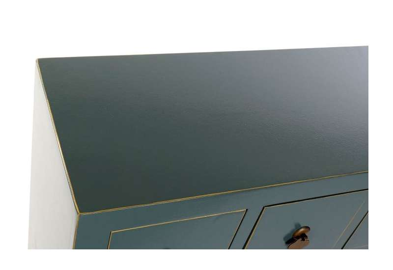 Armoire chinoise basse MACAO Vert Amande