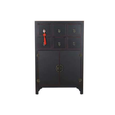 Armoire chinoise basse MACAO Noire