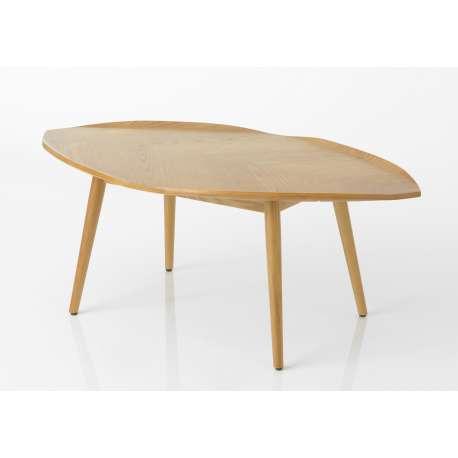 Table basse feuille en bois de frêne