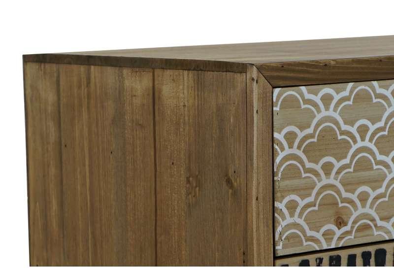Chevet en bois MAYA en bois impression ethniques