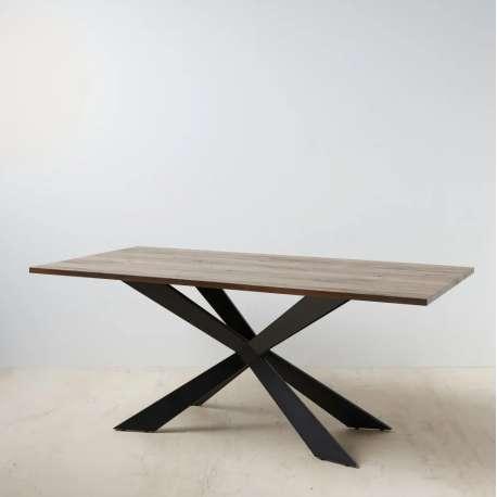 Table à manger Palma en bois et métal