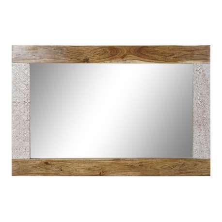 Miroir Inkal cadre acacia 90*60