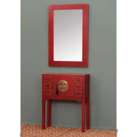 petite console chinoise rouge