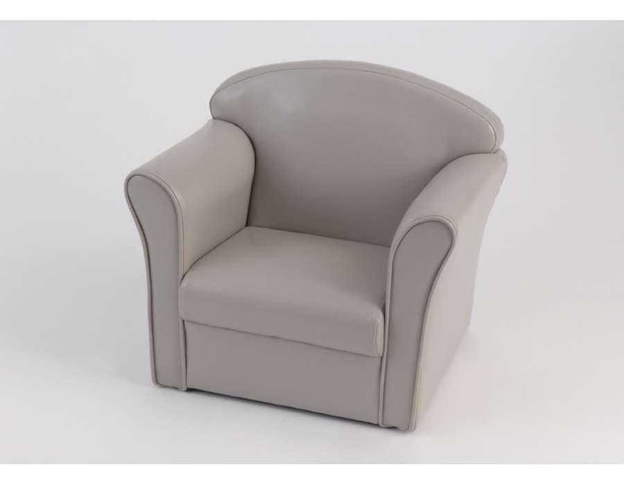 fauteuil pour enfant de couleur taupe de la marque amadeus. Black Bedroom Furniture Sets. Home Design Ideas
