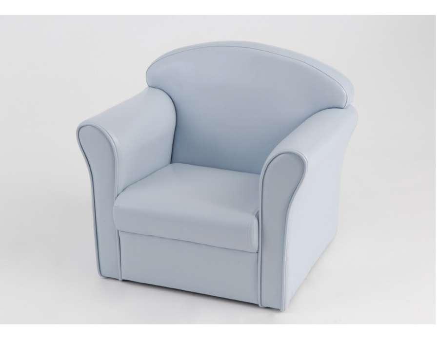 fauteuil club pour enfant de couleur bleu de la marque amadeus. Black Bedroom Furniture Sets. Home Design Ideas