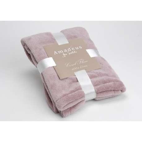 plaid amadeus pour les enfants de couleur rose textile. Black Bedroom Furniture Sets. Home Design Ideas