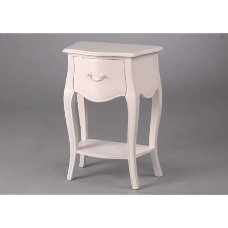 Table de chevet blanc romantique - Table de chevet baroque blanche ...