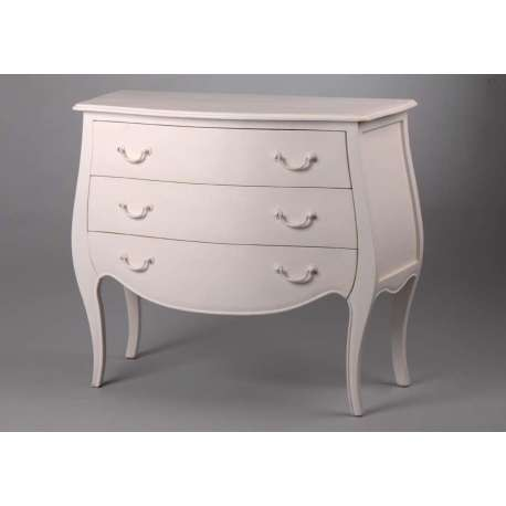 commode blanche style romantique