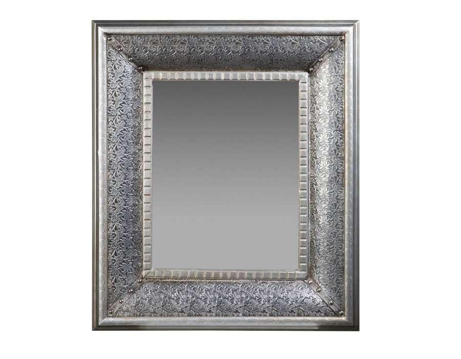 Miroir baroque argent vical home for Miroir argente