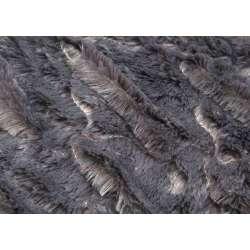 Plaid gris foncé Vague 170*130 cm