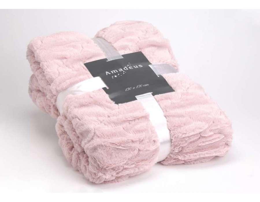 plaid rose 170 130 cm textile amadeus. Black Bedroom Furniture Sets. Home Design Ideas