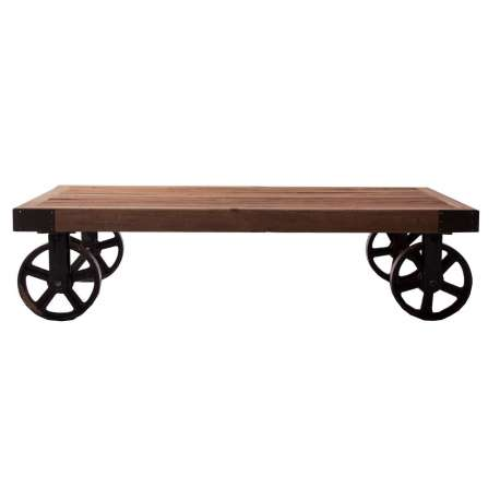 Table basse chariot industrielle