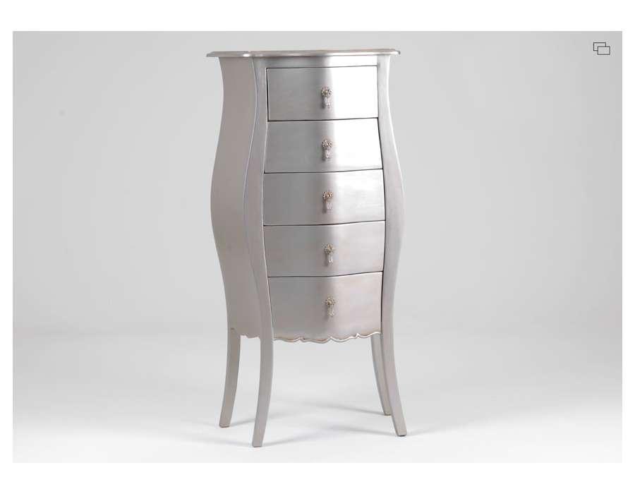chiffonnier argent baroque galb. Black Bedroom Furniture Sets. Home Design Ideas