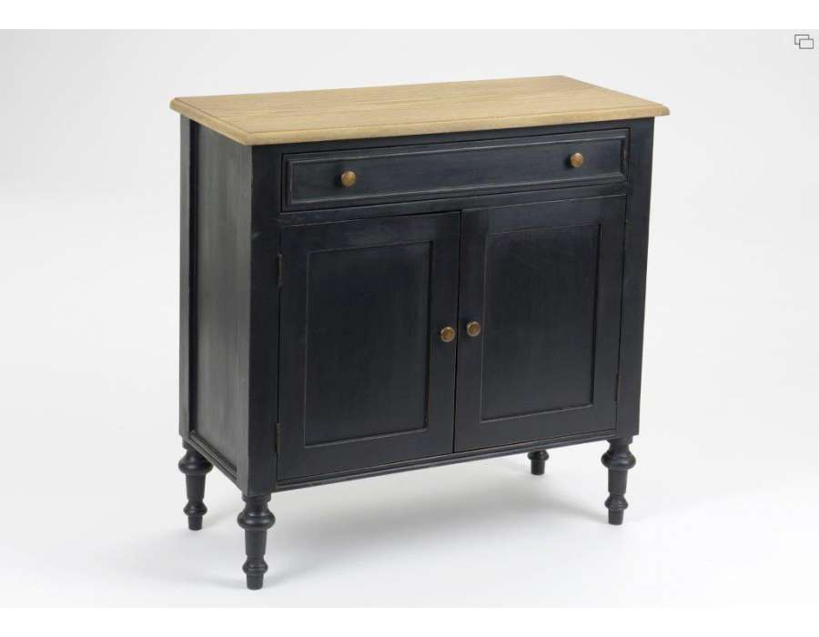 buffet troit noir c rus de la marque amadeus. Black Bedroom Furniture Sets. Home Design Ideas