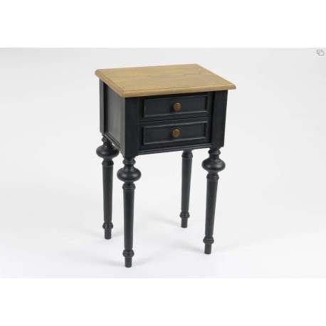 Table de chevet noire cérusée Amadeus