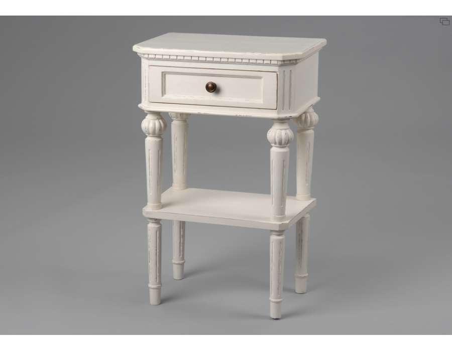Table Chambre Chevet Blanc De La Marque Amadeus