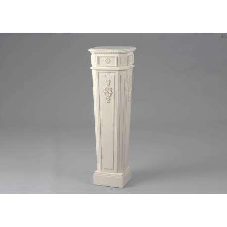 porte plante blanc sellette blanche en colonne. Black Bedroom Furniture Sets. Home Design Ideas