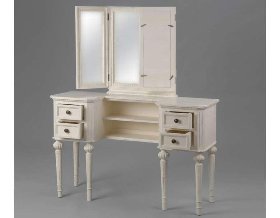 Coiffeuse bois blanc ou Bureau féminin
